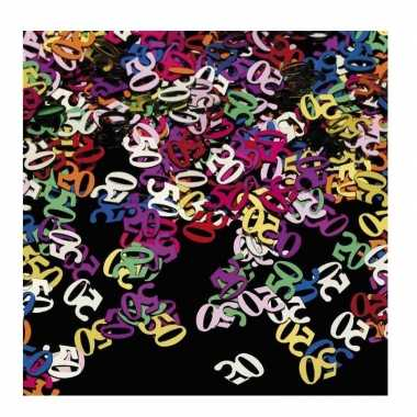 3x stuks confetti 50 jaar thema versiering zakjes van 15 gram