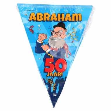 50 abraham party vlaggenlijn cartoon 10 m verjaadag versiering