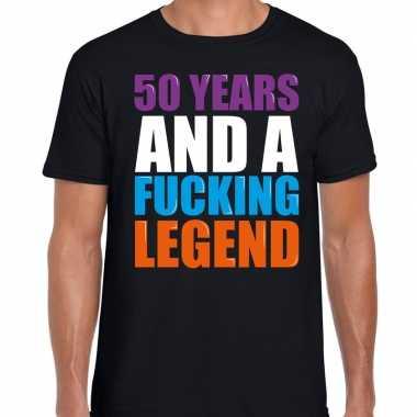 50 year legend / 50 jaar legende cadeau t-shirt zwart heren