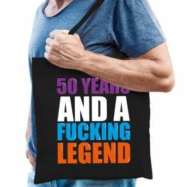 50 year legend / 50 jaar legende cadeau tas zwart voor heren