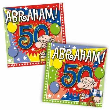 60x 50 jaar abraham leeftijd feest servetten 25 x 25 cm