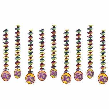 9x rotorspiralen 50 jaar versiering feestartikelen