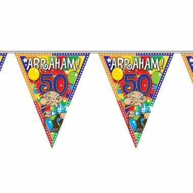 Abraham 50 jaar vlaggenlijn 10 meter