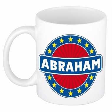 Abraham naam koffie mok / beker 300 ml