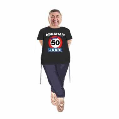 Abraham pop opvulbaar met abraham stopbord 50 jaar pop shirt/ kleding