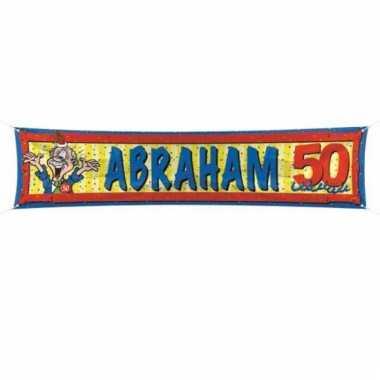 Abraham straatbanier 180 cm