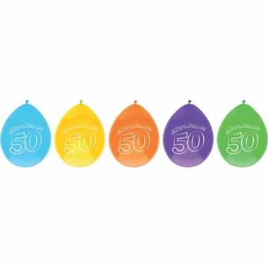 Abraham thema party ballonnen 50 jaar 20 stuks