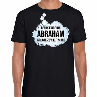 Ben ik eindelijk abraham verjaardag cadeau t-shirt / shirt zwart voor heren