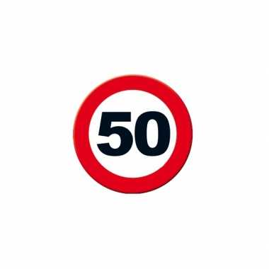 bord 50 jaar Decoratie verkeersbord 50 jaar 49 cm | Abraham 50.nl bord 50 jaar