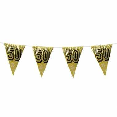 Gouden bruiloft jubileum vlaggenlijn 50 jaar 8 meter