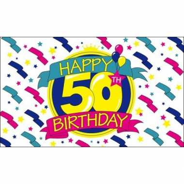 Happy birthday vlag 50 jaar