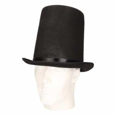 Hoge abraham lincoln hoed zwart voor volwassenen