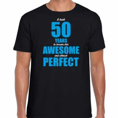 It took 50 years to become this awesome verjaardag cadeau t-shirt zwart voor heren