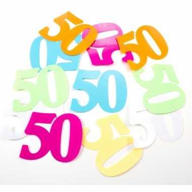 Mega confetti 50 jaar leeftijd versiering 36 stuks