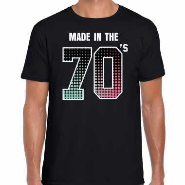 Seventies t-shirt / shirt made in the 70s / geboren in de jaren 70 zwart voor heren