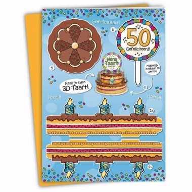 Xxl 3d taart kaart 50 jaar
