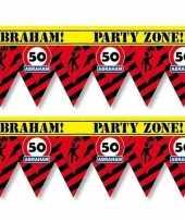 2x 50 abraham tape markeerlinten waarschuwing 12 m versiering