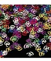 2x stuks confetti 50 jaar thema versiering zakjes van 15 gram
