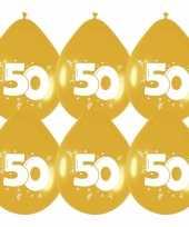 36x stuks gouden ballonnen 50 jaar feestartikelen