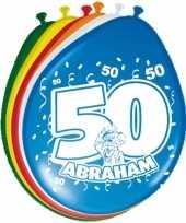 40x ballonnen versiering 50 jaar abraham thema