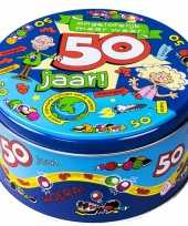 50 jaar snoeptrommel voorraadtrommel cadeau voor 50e verjaardag