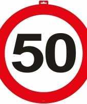 50 jaar verkeersbord deurbord 47 cm leeftijd versiering