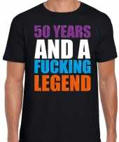 50 year legend 50 jaar legende cadeau t shirt zwart heren