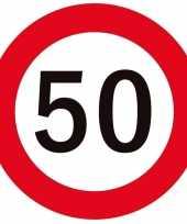 50x bierviltjes 50 jaar feestartikelen