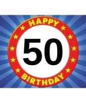 5x 50 jaar verjaardag kaart wenskaart happy birthday
