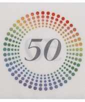 80x leeftijd 50 jaar themafeest verjaardag servetten 33 x 33 cm confetti