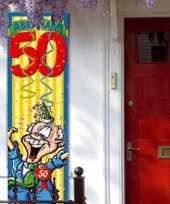 Abraham 50 jaar versiering banier