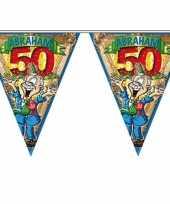 Abraham 50 jaar vlaggenlijn 6 meter