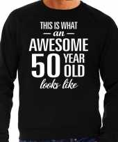 Awesome 50 year 50 jaar cadeau sweater zwart heren