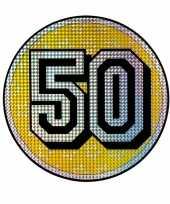 Decoratiebord 50 jaar holografisch
