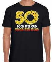 Funny emoticon t shirt 50 toch wel oud voor een kind zwart heren