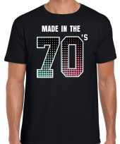 Seventies t shirt shirt made in the 70s geboren in de jaren 70 zwart voor heren