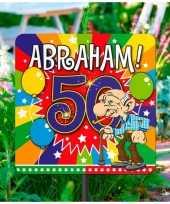 Tuinbord abraham 50 jaar