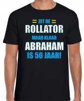 Verjaardag cadeau t-shirt rollator 50 jaar abraham zwart voor heren