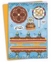 Xxl abraham verjaardagskaart 35 x 49 cm