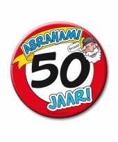 Xxl verjaardags button 50 jaar abraham